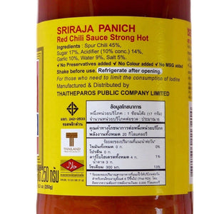 Sriraja Panich Sriracha Red Chili Sauce Strong Hot Made in Thailand 250 grams - Asian Beauty Supply