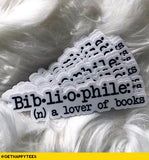 Bibliophile Sticker - Get Happy Tees