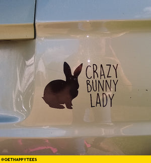 Crazy Bunny Lady Decal - Get Happy Tees