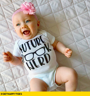 Future Book Nerd Baby Bodysuit - Get Happy Tees