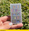 Colorful Book Shelf Sticker