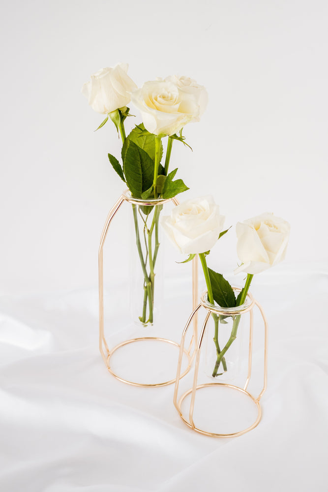 Rose Gold Glass Nordic Tall Vase