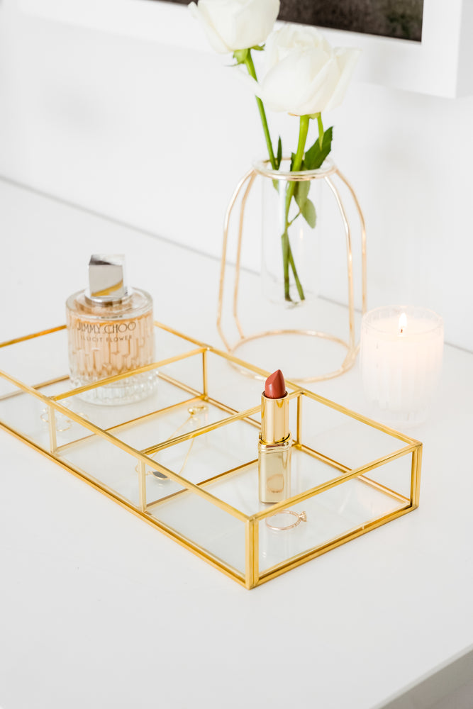 Rose Gold Glass Nordic Petite Vase