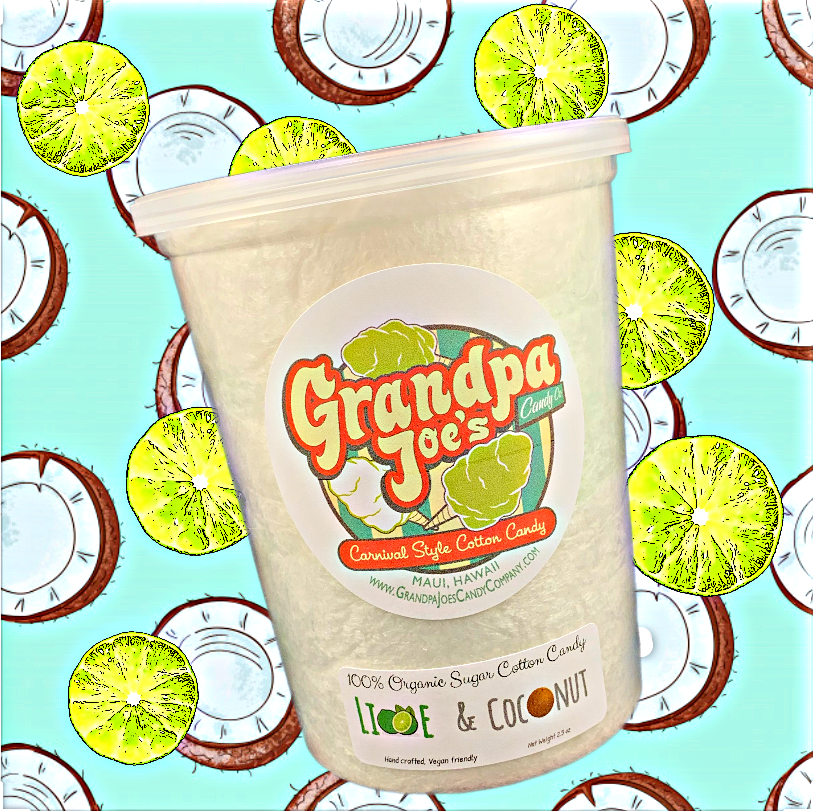 Lime and Coconut Cotton Candy - 100% Organic Sugar