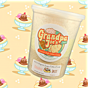 Banana Split Cotton Candy | 100% Organic Sugar