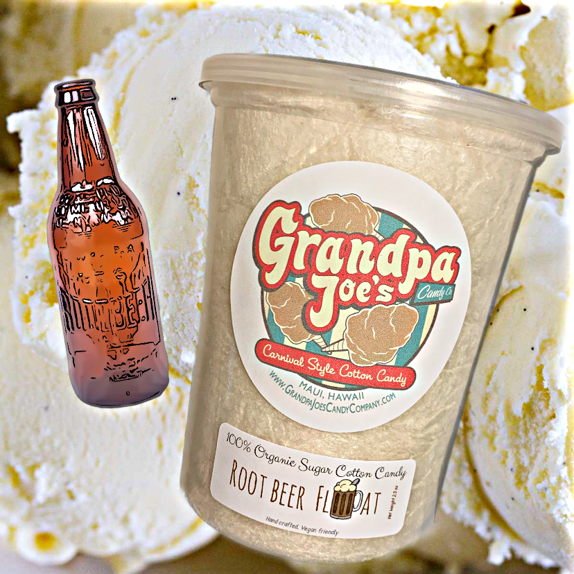 Root Beer Float Cotton Candy - 100% Organic Sugar