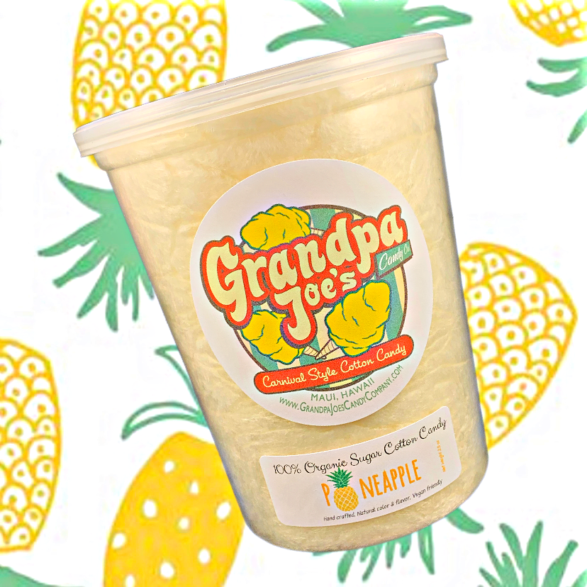 Pineapple Cotton Candy - 100% Organic Sugar