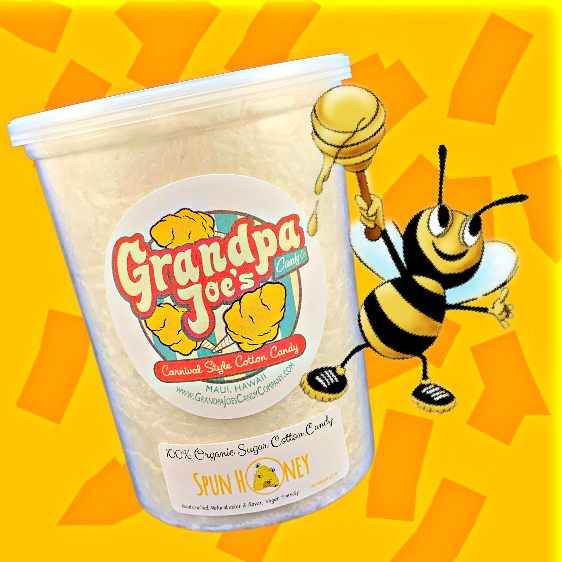 Spun Honey Cotton Candy - 100% Organic Sugar