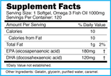 OMEGA: Omega 3 Fish Oil Softgels