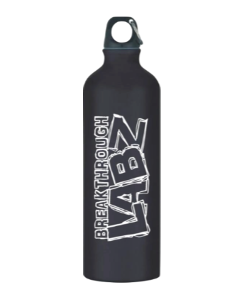 Official Breakthrough Labz Black Aluminum Sports Bottle!