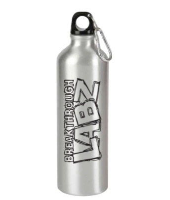 Official Breakthrough Labz Silver Aluminum Sports Bottle!