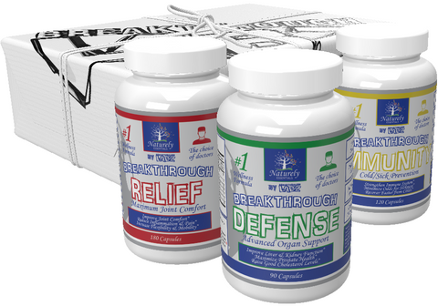Men's Cycle Essentials Stack: DEFENSE, RELIEF, & IMMUNITY