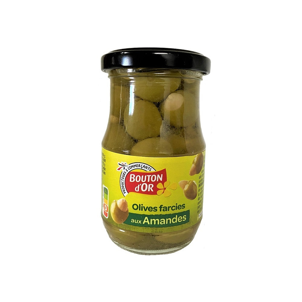 Olives vertes farcies amandes 180 ml
