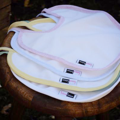 New! Eco-Friendly Antimicrobial Moisture Wicking Two-Ply Baby Bib: BonnBonn Baby - BonnBonn Baby Antimicrobial Wicking Baby Clothing and Essentials