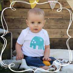 Antimicrobial Moisture Wicking Baby Clothing Elephant Bodysuits-BonnBonn Baby Antimicrobial Wicking Baby Clothing and Essentials