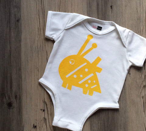 Antimicrobial Moisture Wicking Bailey Bumblebee Bodysuit: BonnBonn Baby - BonnBonn Baby Antimicrobial Wicking Baby Clothing and Essentials