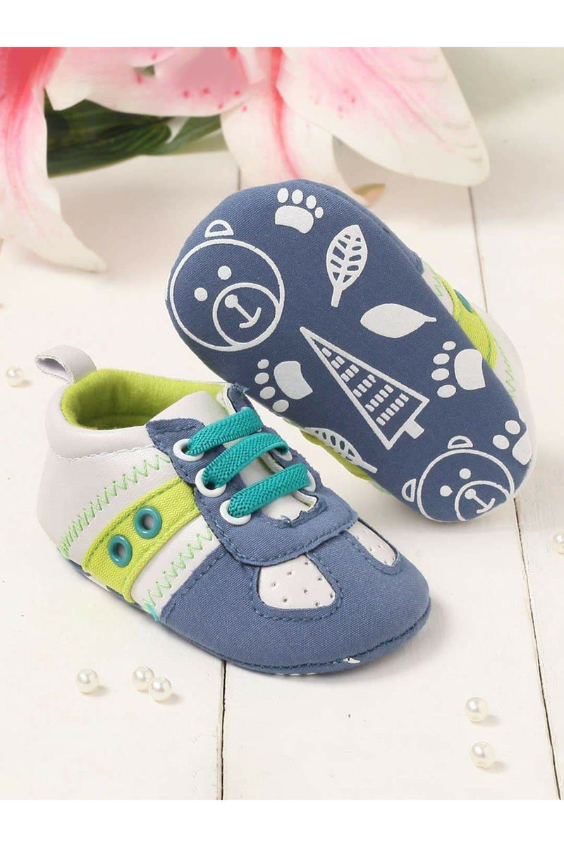 Blue Kids Elastic Booties