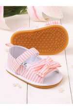 Pink Girls Infant Bow Sandals