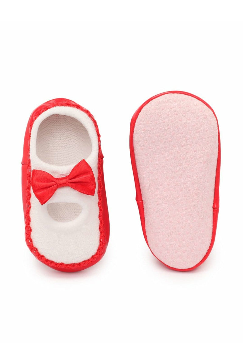 Red Infant Kids Booties