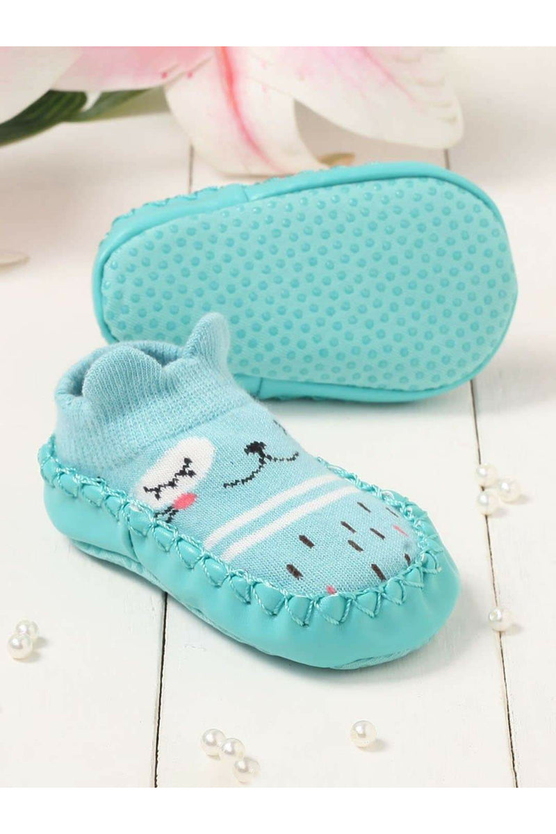 Green Infant Kids Booties
