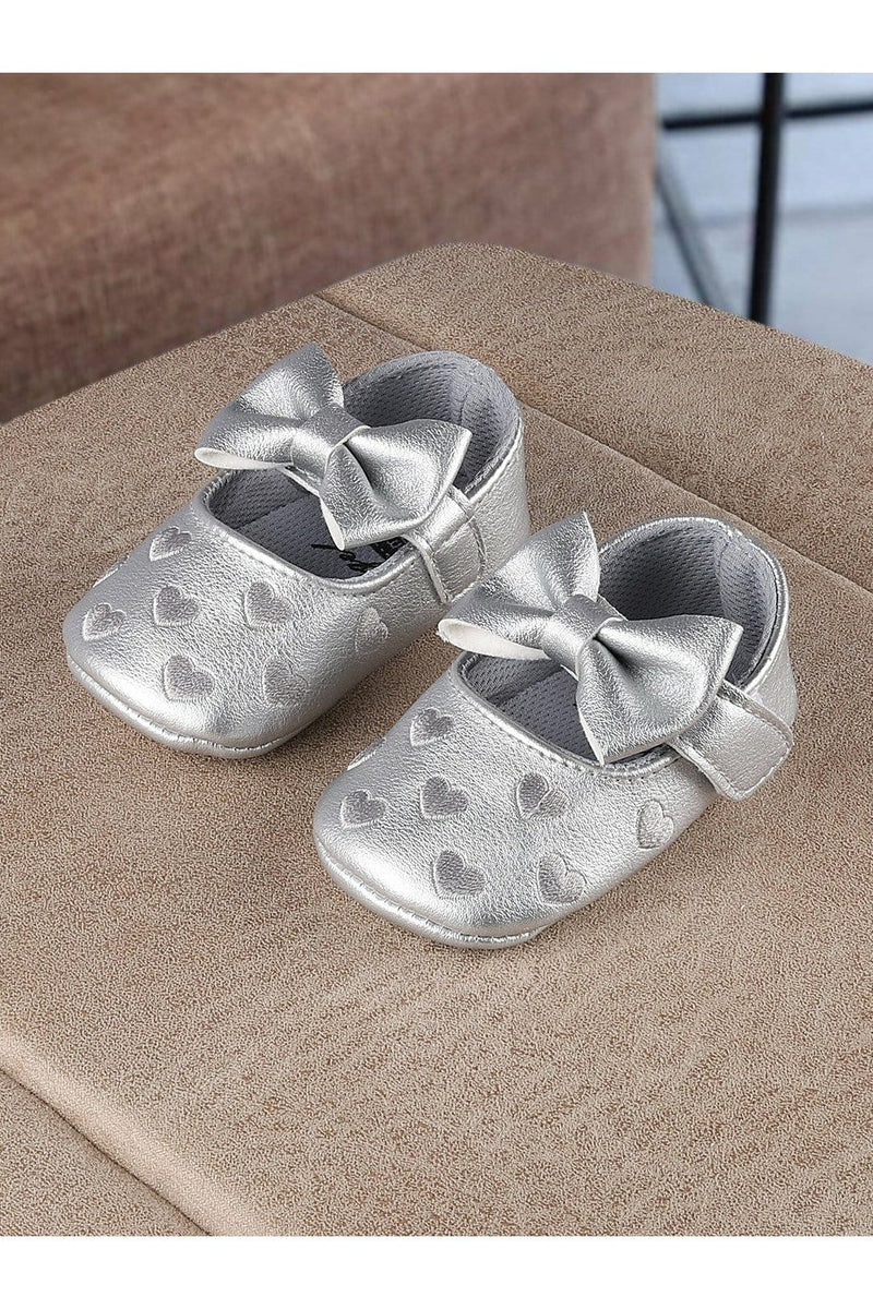 Silver Girls Mary Jane Booties