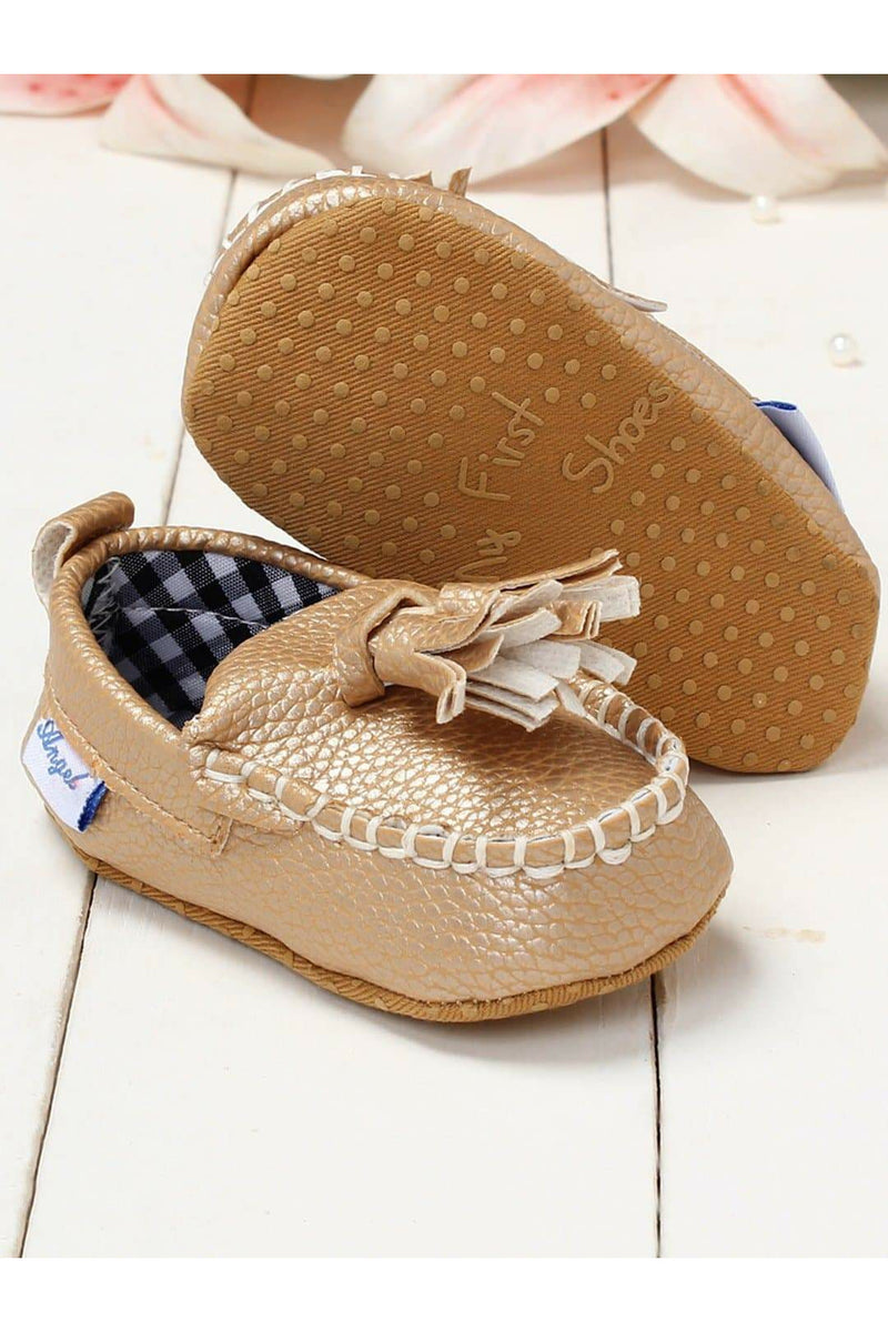 Gold Infant Kids Booties