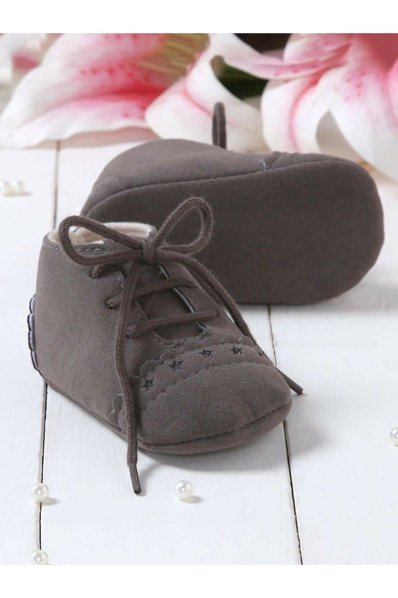 Grey Infant Kids Booties