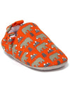 Orange Infant Kids Booties