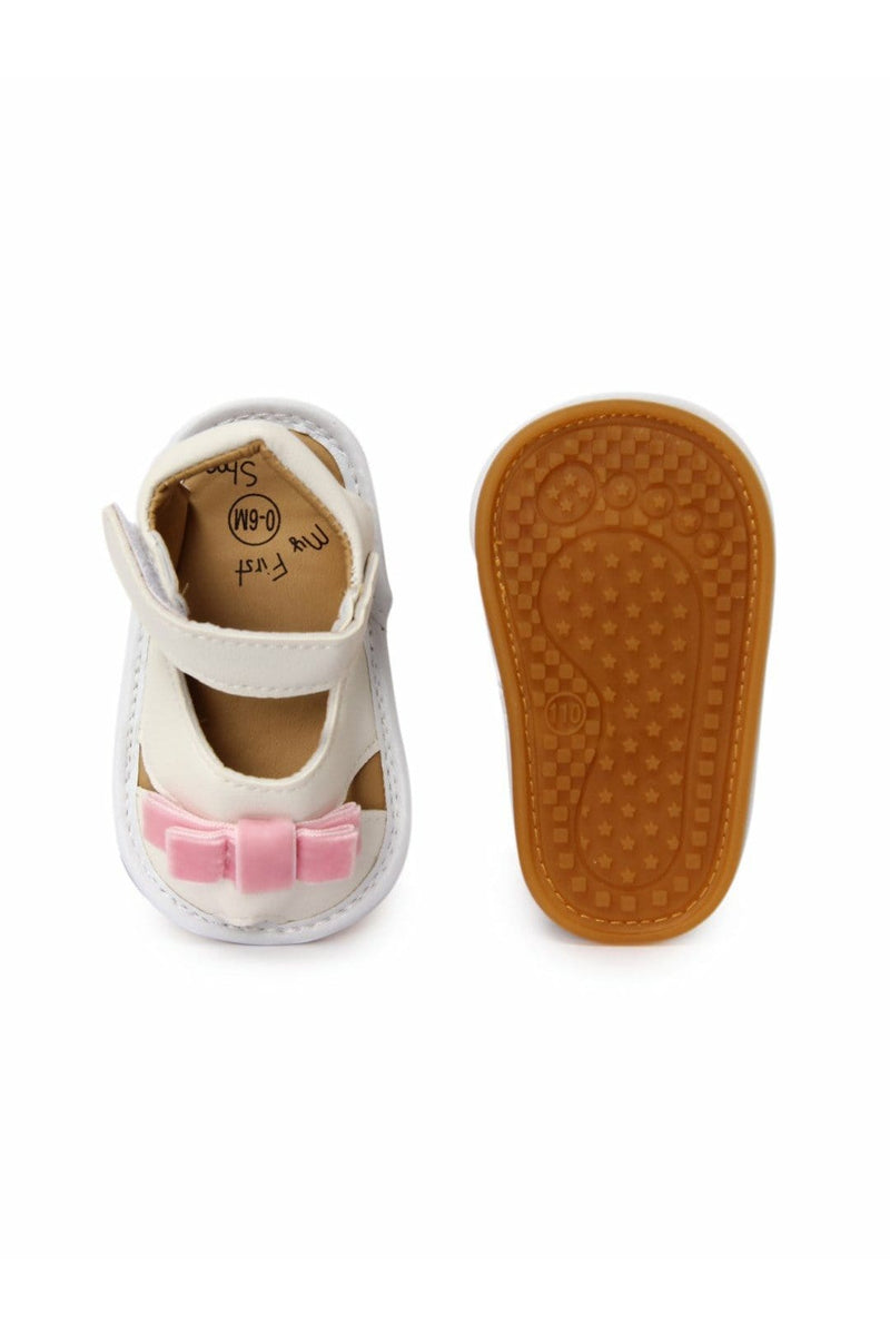 White-Pink Infant Girls Sandals