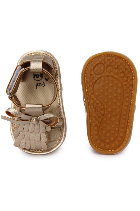 Gold Infant Girls Sandals