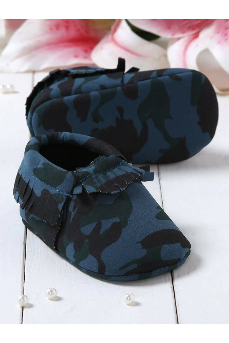 Navy Infant Kids Booties