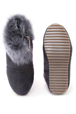 Grey Girls Fur Boots