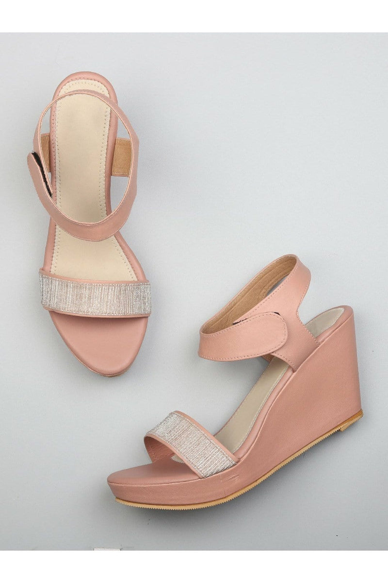 Pink Womens Wedges