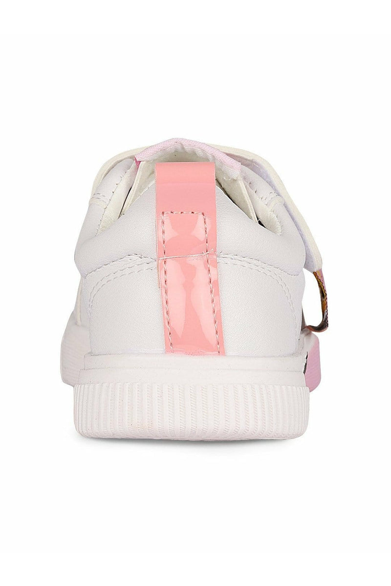White and Pink Girls Sneakers