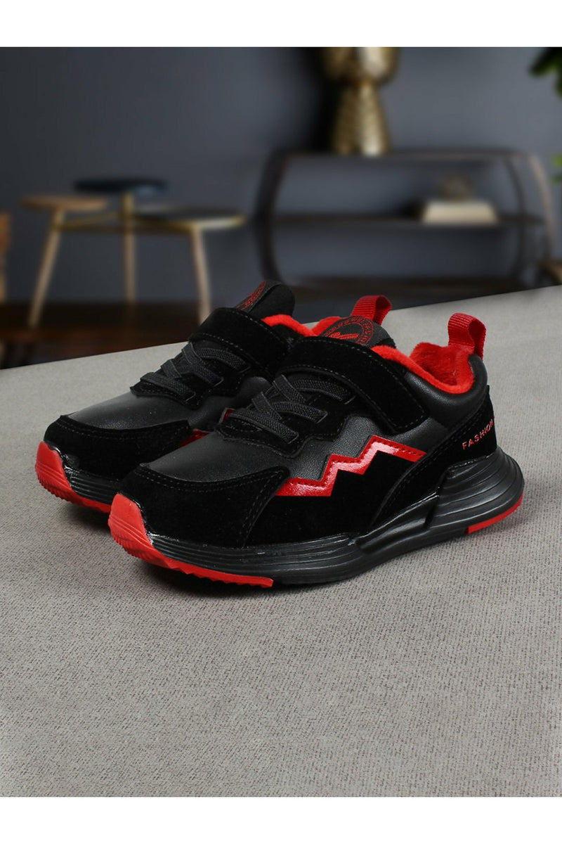 Black and Red Kids Sneakers