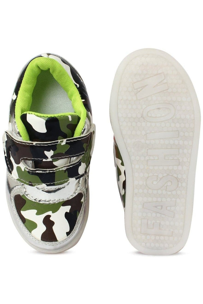 Green Kids LED Sneakers