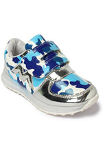 Blue Kids LED Sneakers