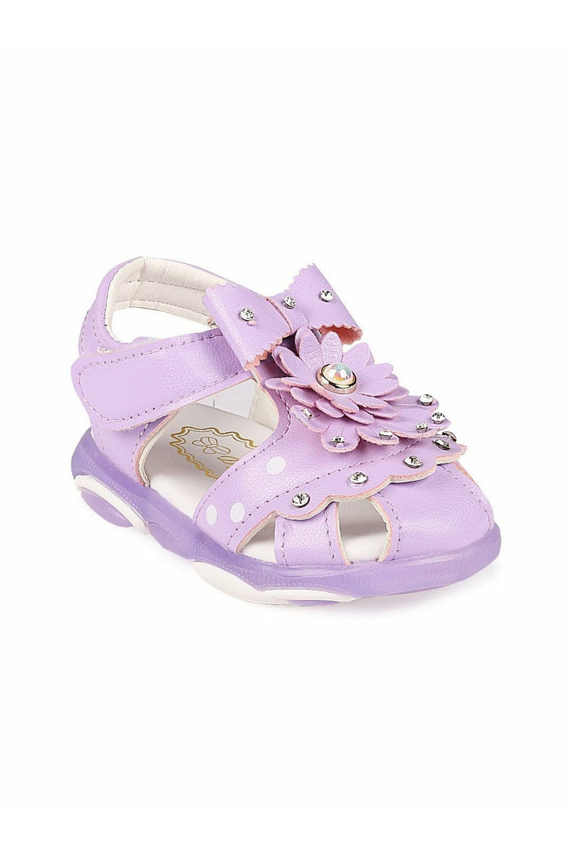 Purple Girls LED Sandals