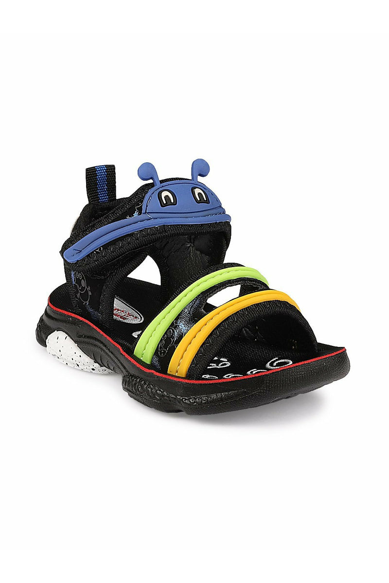Black and Blue Kids Sandals