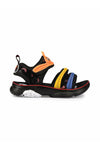 Black and Orange Kids Sandals