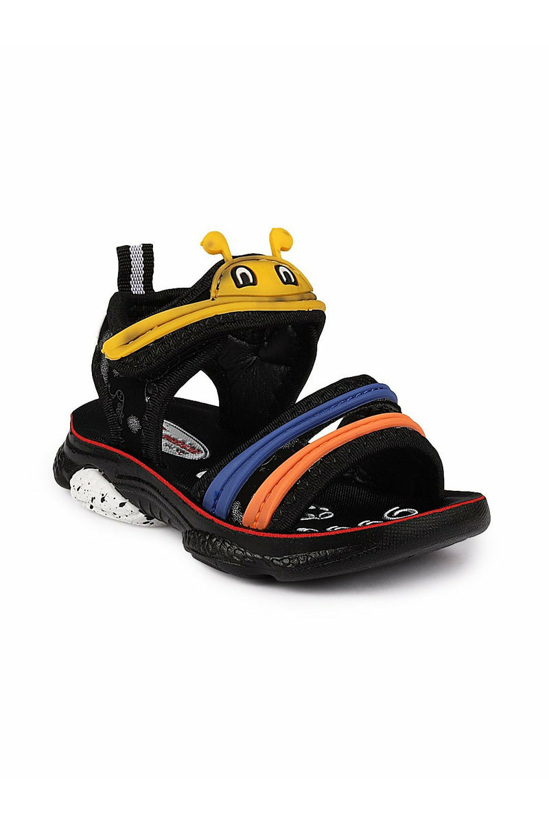 Black and Yellow Kids Sandals