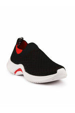 Black Boys Slip-On Sneakers