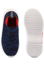 Navy Kids Slip On