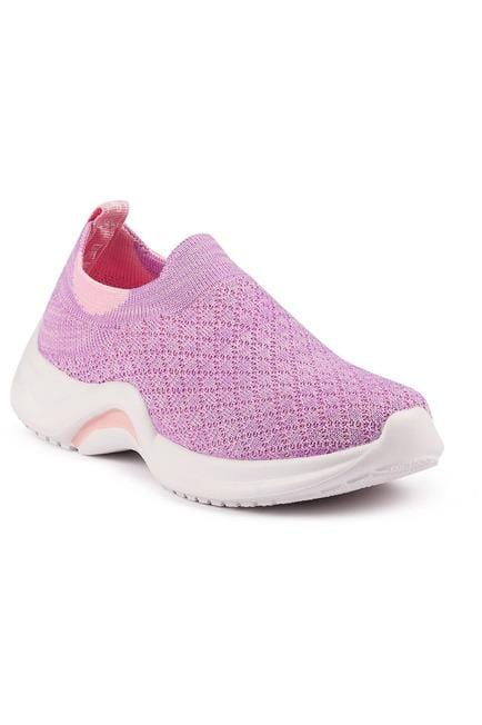 Pink and Purple Girls  Slip On Sneakers