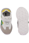 Grey and Green Kids LED Sneakers