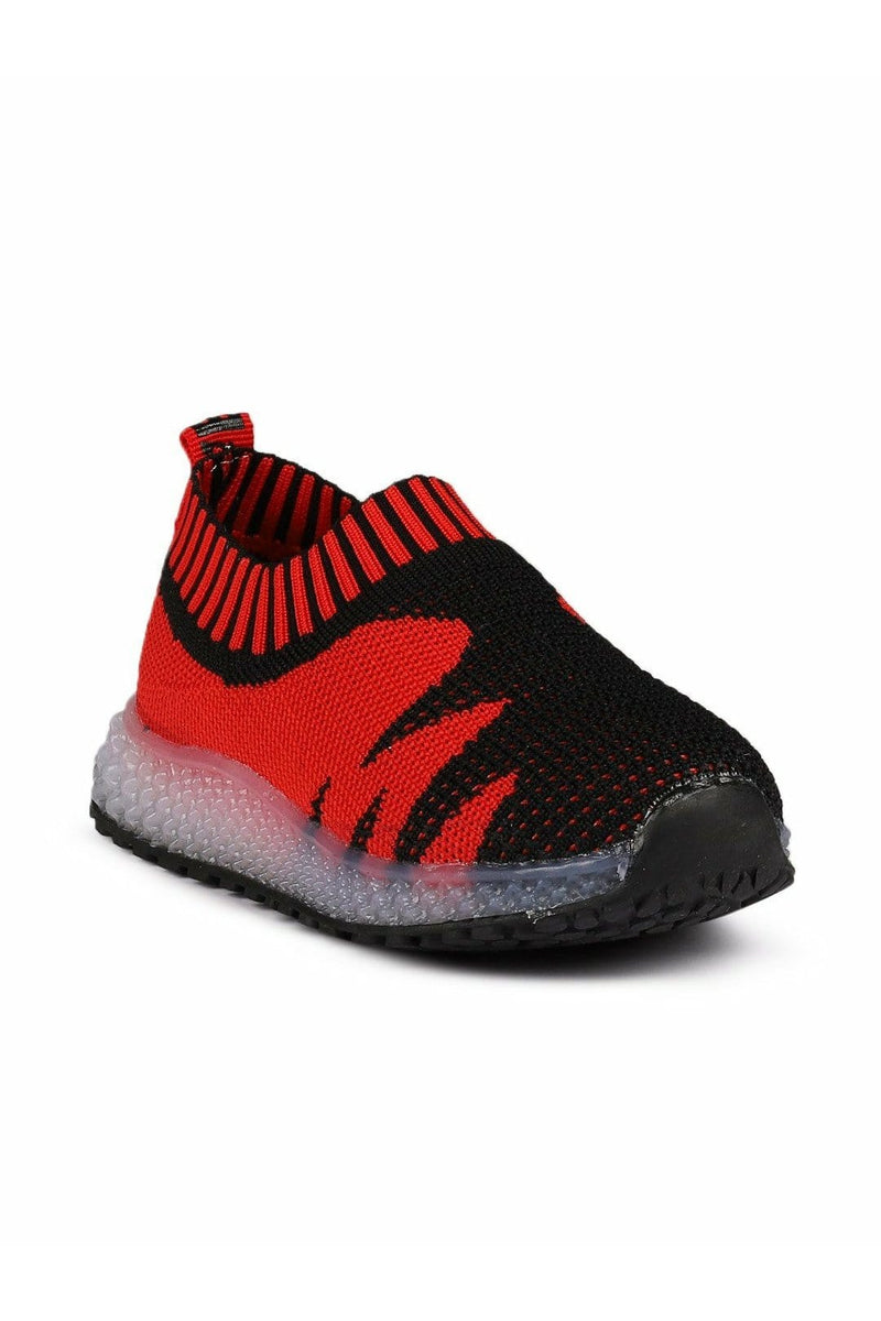 Red and Black LED Sneakers