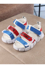 White and Blue Kids Sandals