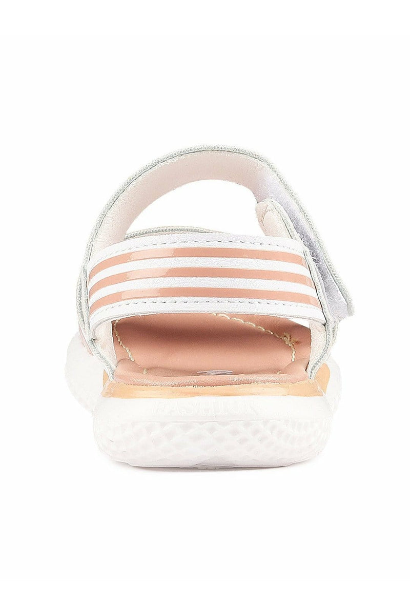 White and Pink Girls Sandals