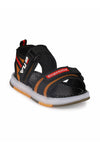 Black and Tan Kids LED Sandals