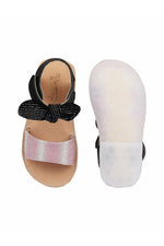 Black and Pink Girls Sandals